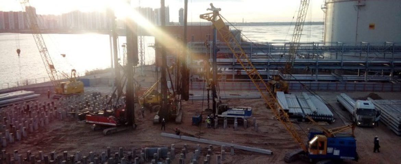 Работы на объекте «Петербургский нефтяной терминал»